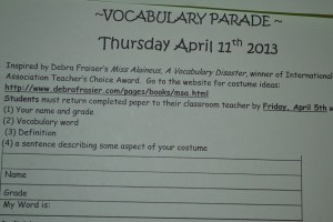 vocab parade