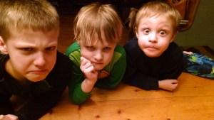 upset boys