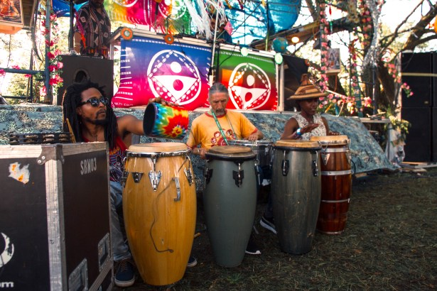 Team Multi Culti on the congas