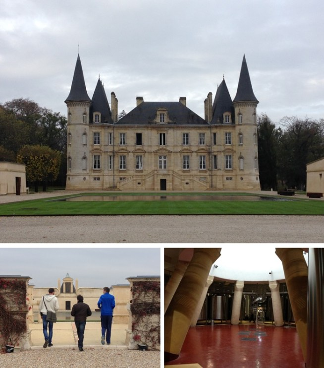 The winery at Pichon-Longueville is stunning - both visually and intelligently designed. The round tank room sits directly under the pool on the lawn of the main building.