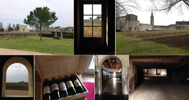 Clos Fourtet is located right next to the village of St Emilion. Every window and doorway seems to beckon. Limestone quarries below the estate are for aging bottles and wine barrels.