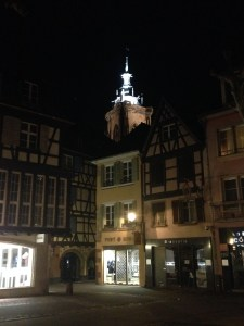 First view of Colmar by night.