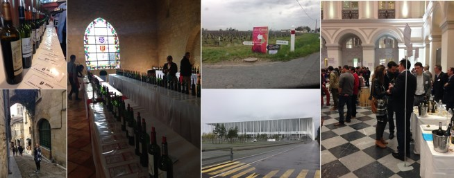en Primeur 2016: St Emilion Grand Cru Classé tasting at Château Villemaurine. A lunchbreak and chance run-in with a familiar face in St Emilion leads to a tasting of the greater St Emilion area wines at the Hall of the Dominicans. Everyone is hosting a tasting event, including the new Stadium (built mostly to host the Euro Cup in July but plays double duty easily during primeur week. Seventy-four wines later, I'm wrapping up my fifth primeur event of the day at Place de la Bourse, with the Graves tasting.