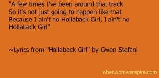 Lyrics for song by Gwen Stefani