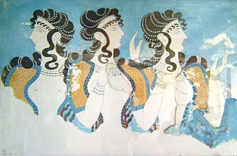 Fresco Ladies in Blue