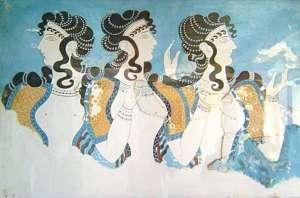 Fresco Ladies in Blue