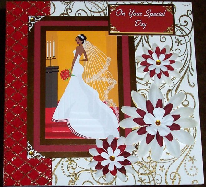 Beautiful Wedding Card, Made by Jennifer Smith-Kirk