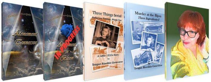 Reading books by Teagan