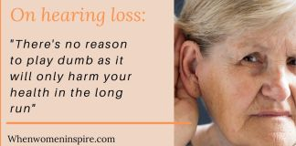 Hearing loss don't ignore it