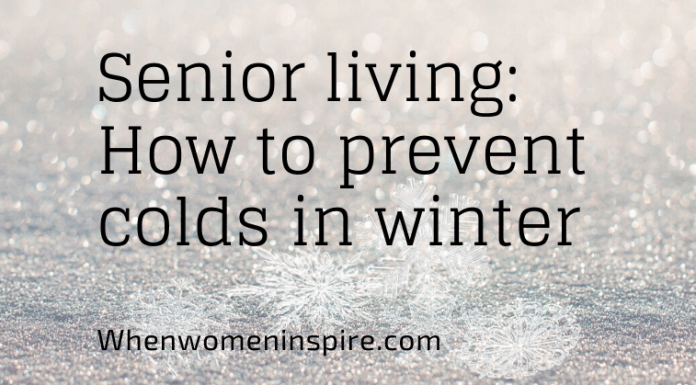 Winter scene: Prevent colds in seniors