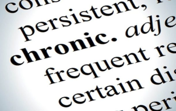 The word chronic written on page