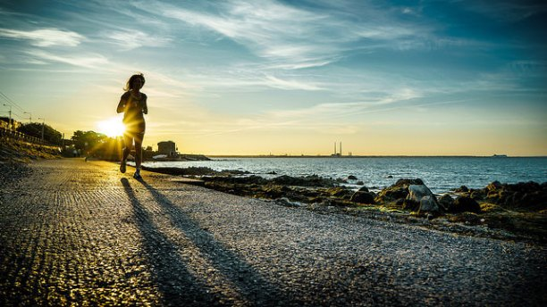 Exercise for mental health, including running like this woman