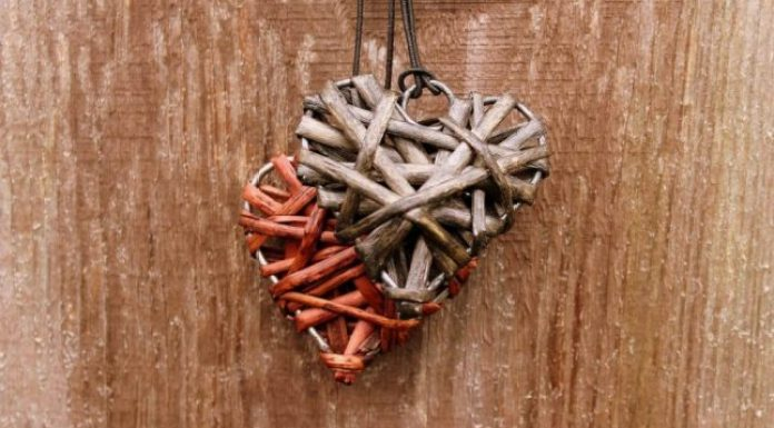 Wood heart necklaces