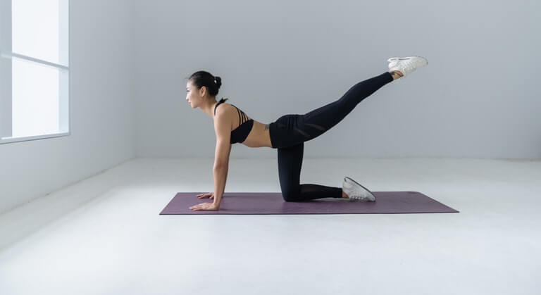 Take care of your back with yoga, for example, for good spinal health.