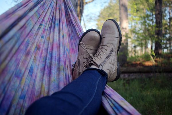 Hammock in forest - relax!