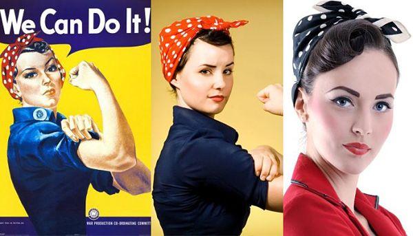 Les cheveux des années 1950 sont de retour! Découvrez ces coiffures rétro. Un tutoriel de cheveux comprennent Rosie le look Riveter.