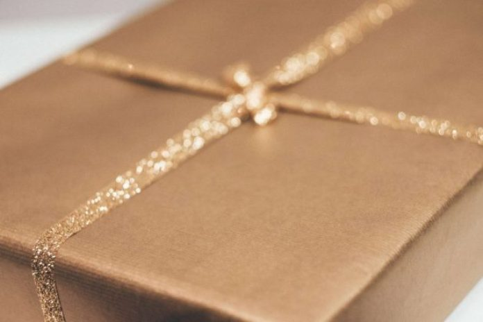 Wrapped present holds one of the popular bridesmaids gifts ideas