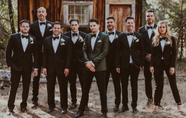 The groomsmaid tux is a new fashion trend