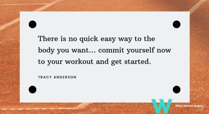 Tracy Anderson quote fitness