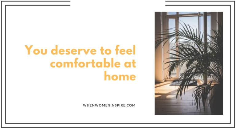 Comfortable at home