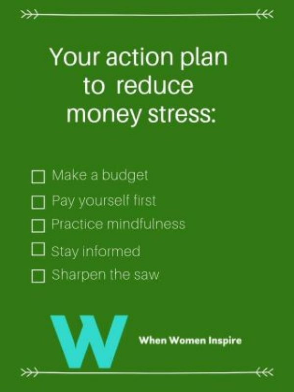 How to reduce money stress