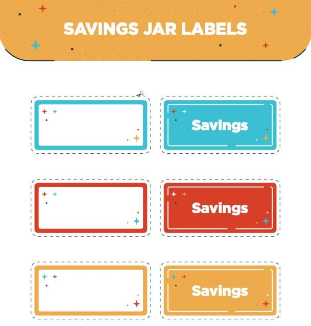 Pots d'épargne Imprimables
