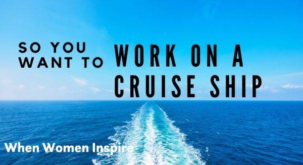 Travail sur un bateau de croisière, scène d'eau