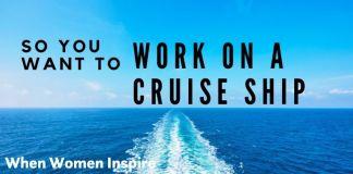 Work on a cruise ship, water scene