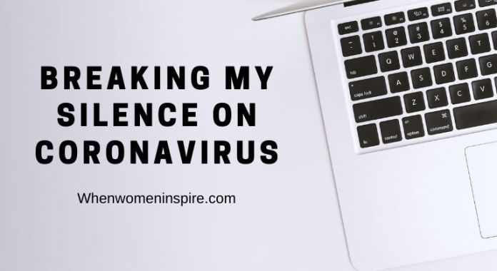 blogging about coronavirus