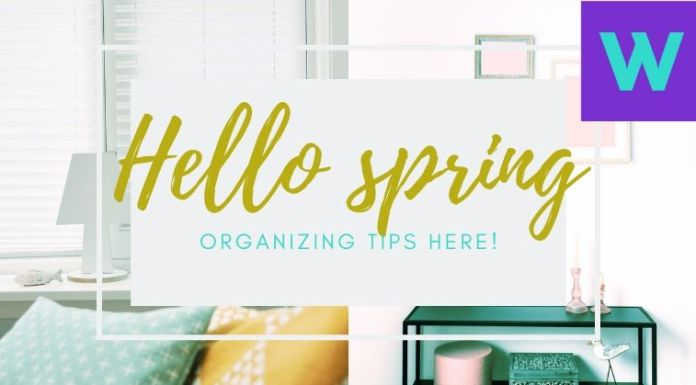 Home spring organizing tips