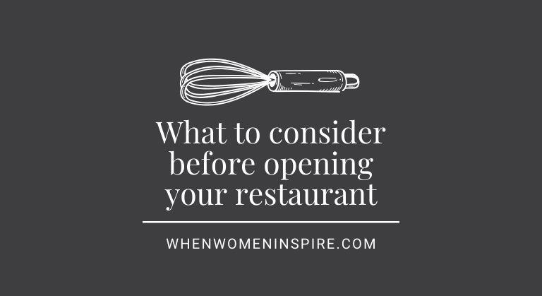 Ouverture du restaurant