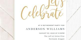 Retirement invitations example