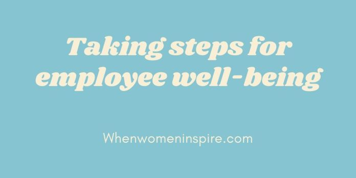 Employee well-being steps