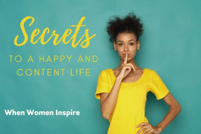 Secrets to happy and content life