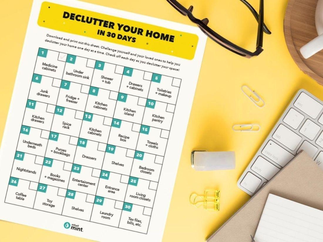 Get rid of sentimental clutter