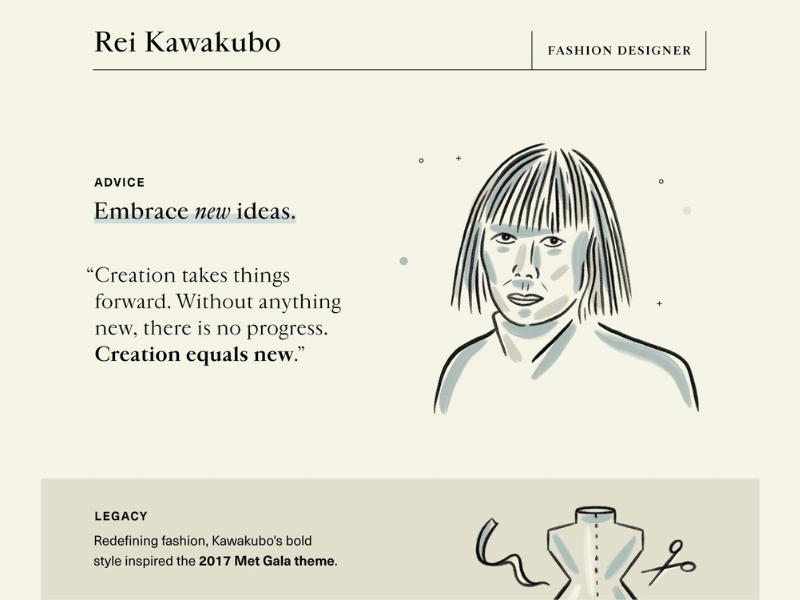 Quote from Rei Kawakubo