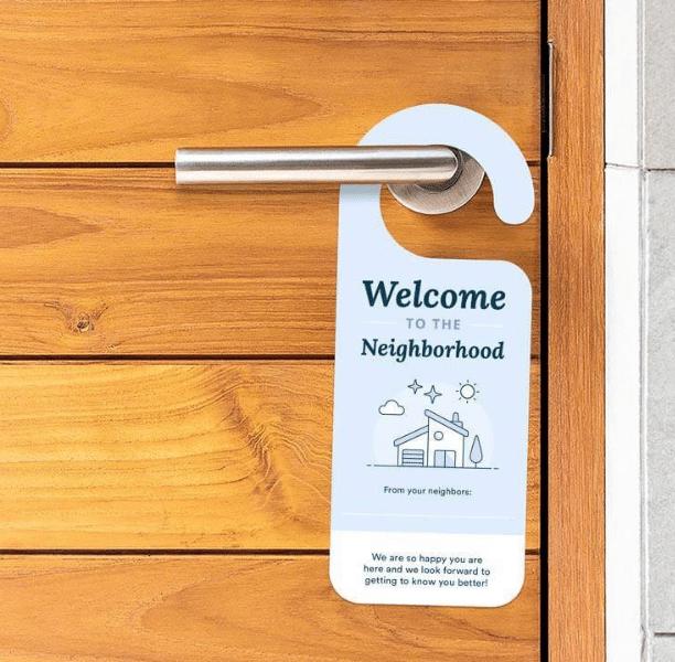 Welcome door tag