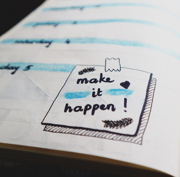 Paper note inspires
