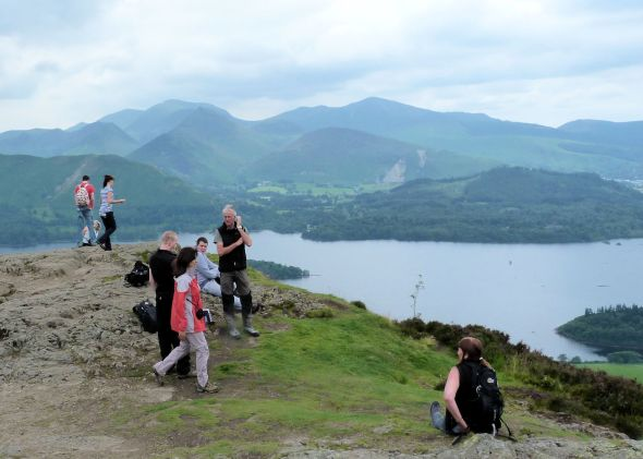 Tourists on Walla Crag
