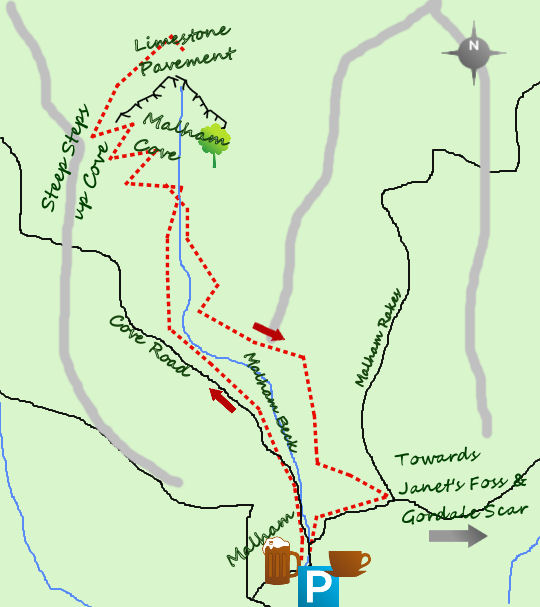 Malham Cove map