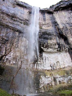 Malham Cove waterfall Dec 2015