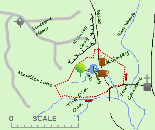 Kilnsey Crag map