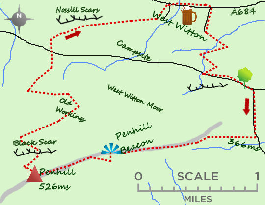 Penhill Beacon map
