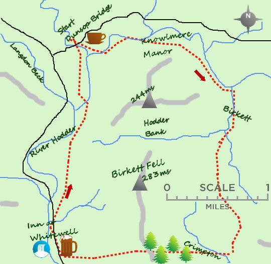 Birkett Fell map