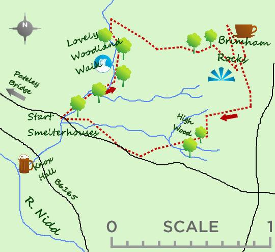 Brimham Rocks map
