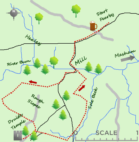Druids Temple Masham map