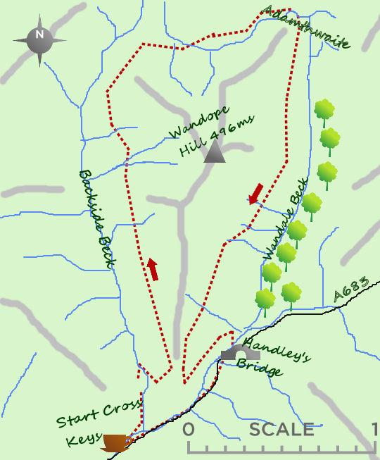 Wandope Hill map