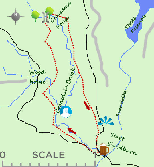 Croasdale Brook map
