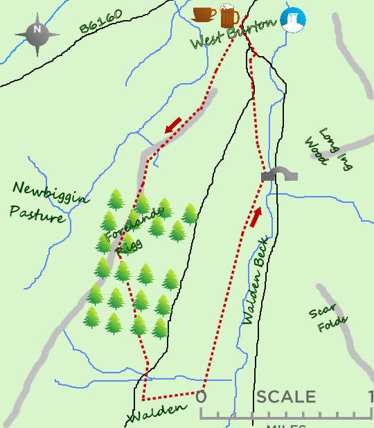 West Burton map