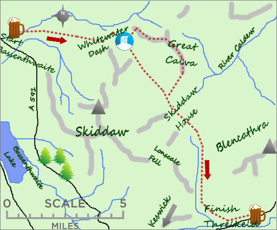 Bassenthwaite Threlkeld map